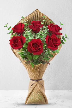 michael from Australia sent 6 Long Stem Premium Rose Bouquet to Katrina in Australia